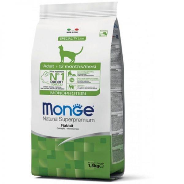 Monge корм для кошек - отзывы, цена, виды и состав корма