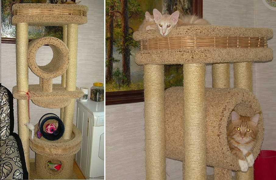 Домик для кошки своими руками: 70 фото-идей