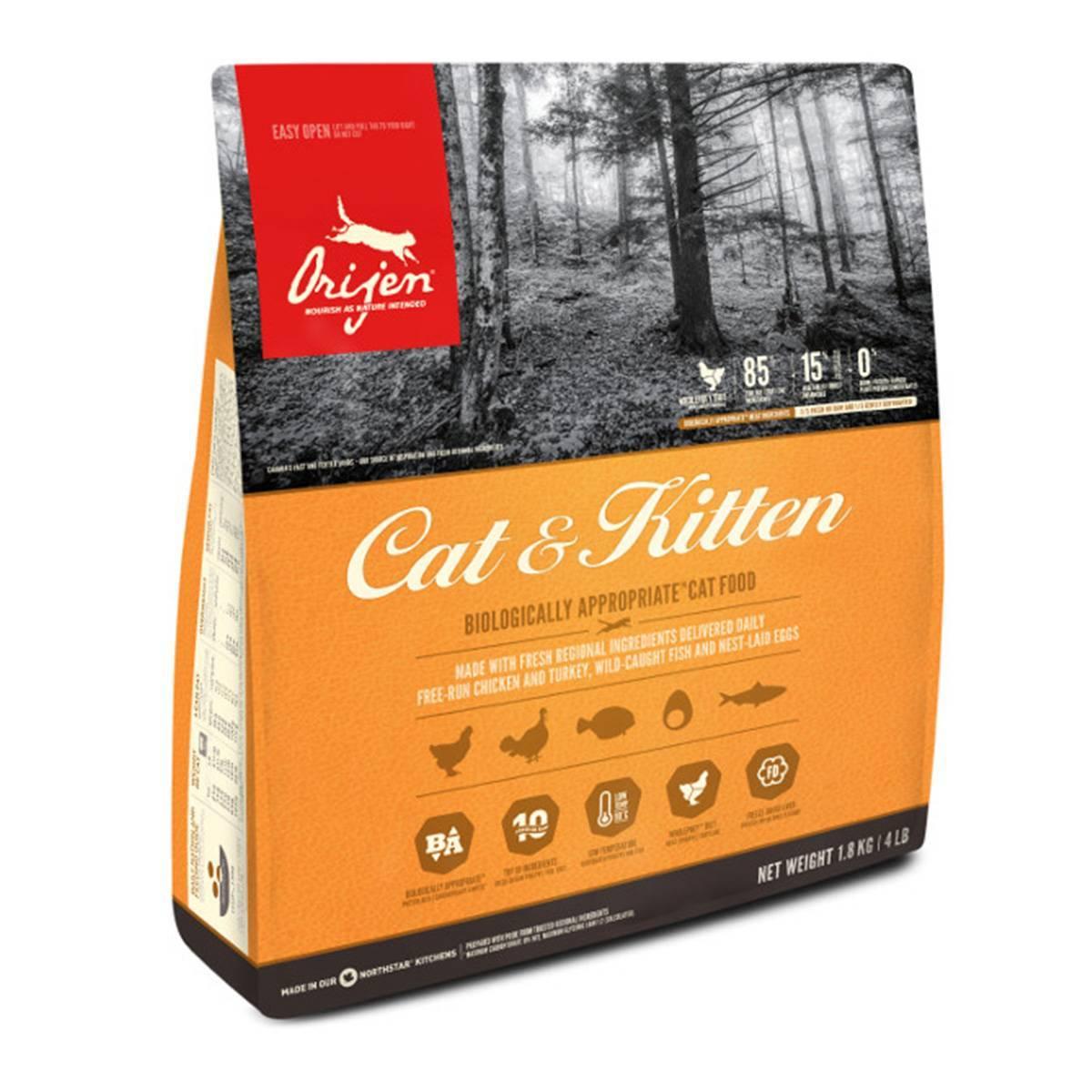 Сухие корма«ориджен» для кошек