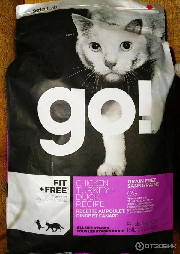 Корм GO! для кошек — состав