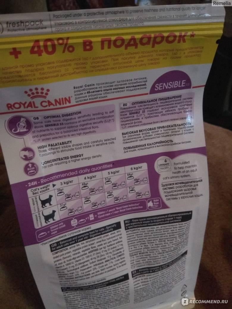 Ассортимент и состав корма для кошек роял канин