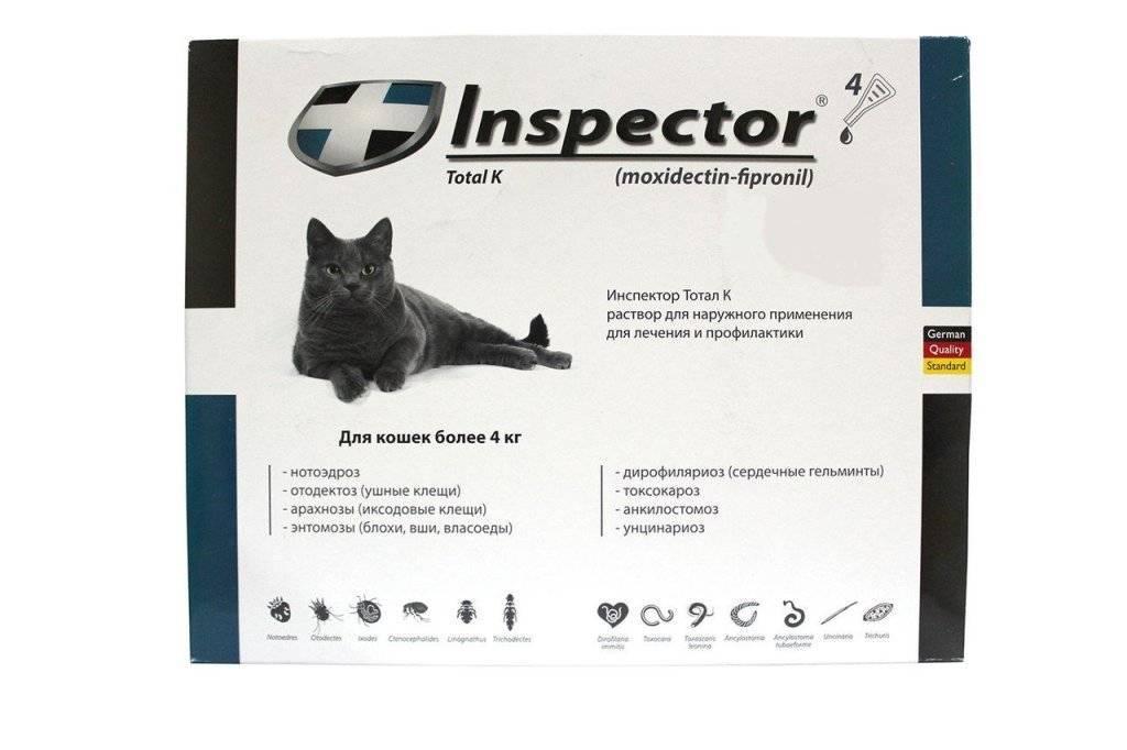 Инспектор от блох для кошек и собак: обзор и инструкция по применению эффективных капель от блох, клещей и глистов