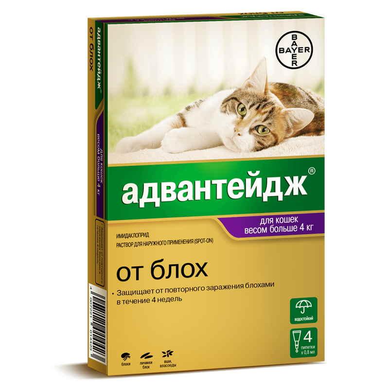 Адвантейдж для кошек инструкция по применению: виды, дозировка, способы нанесения, аналоги