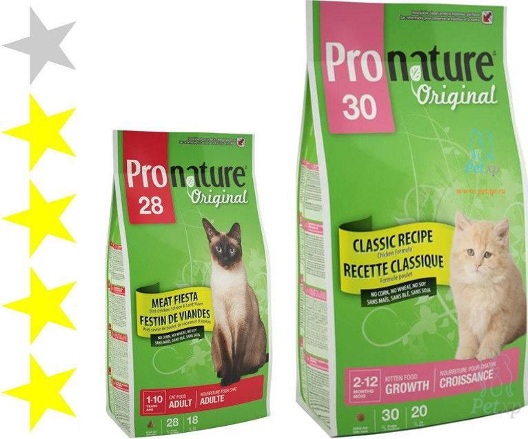 Пронатюр – обзор кормов для кошек класса супер-премиум