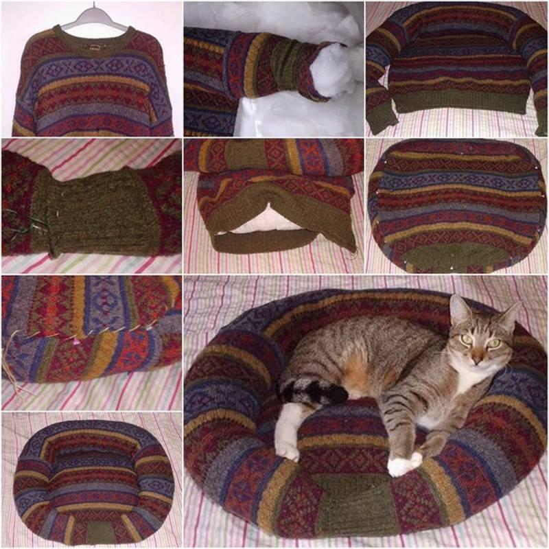 Порадуйте своего питомца— пошаговые инструкции по изготовлению своими руками лежанок для кошки