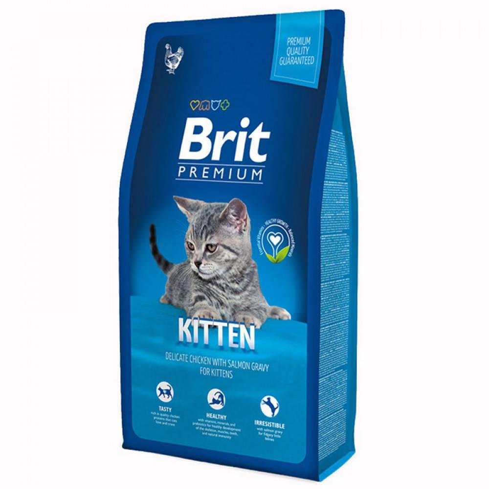 Корм брит для кошек - виды кормов, преимущества и недостатки