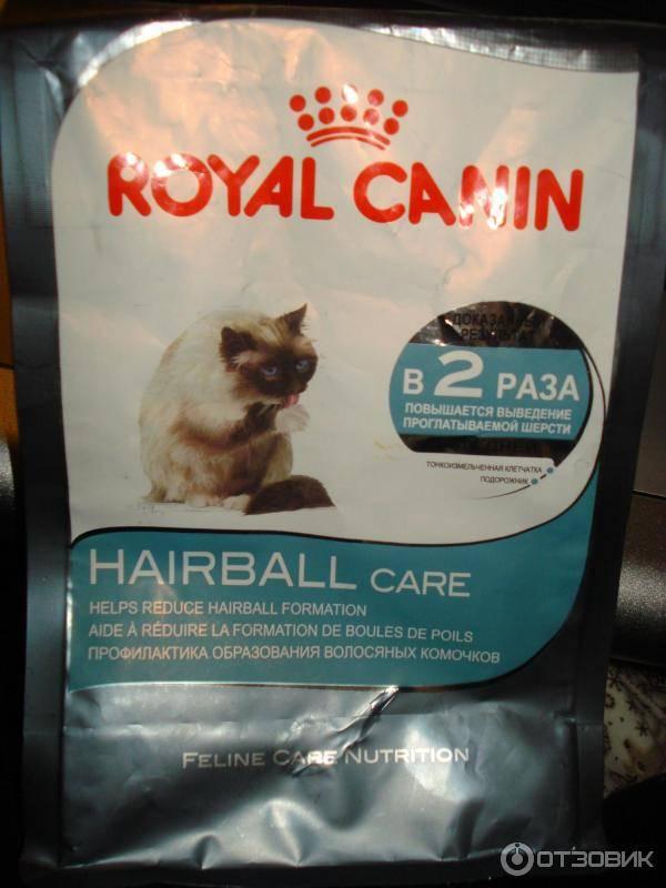 Какой корм давать кошке для выведения шерсти из желудка