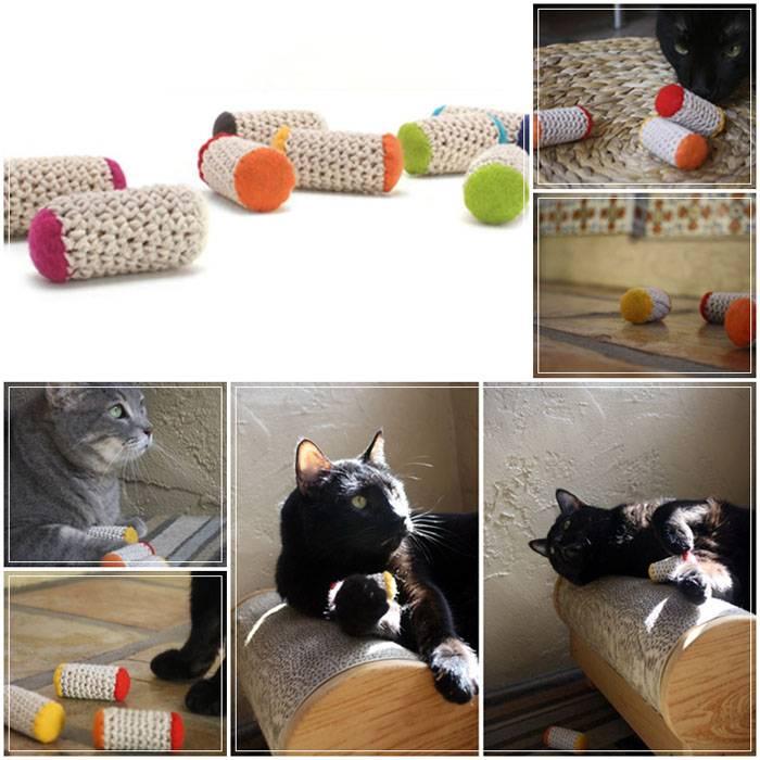 Делаем игрушку для кота своими руками — 4 лапки