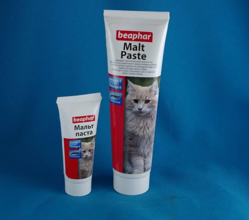 Мальт-паста для кошек:  средство для выведения шерсти