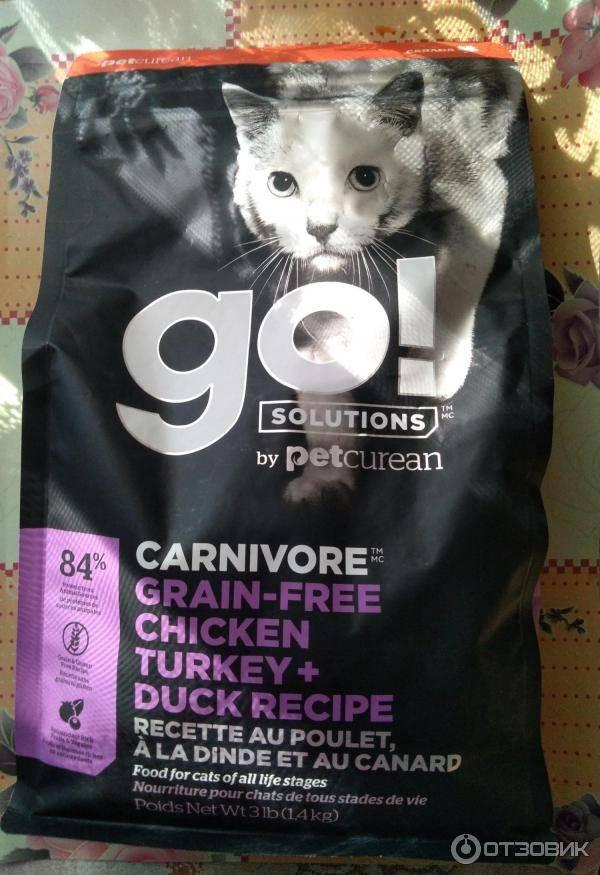 Корм «go» для кошек – только натуральные продукты