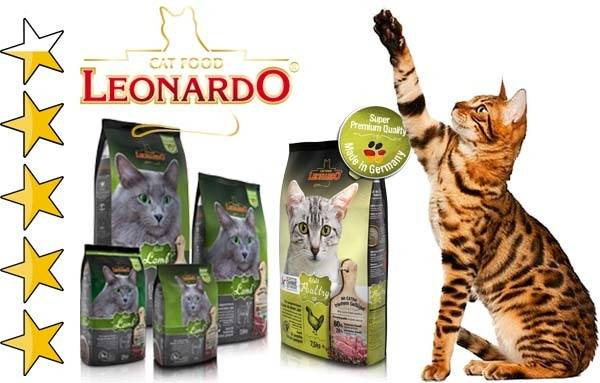 Корм для кошек леонардо: отзывы и обзор состава