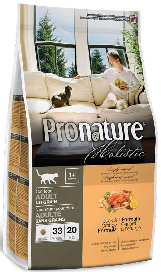 """Корм """"пронатюр"""" для кошек: состав продукции holistic и original для котят, взрослых и пожилых котов"""