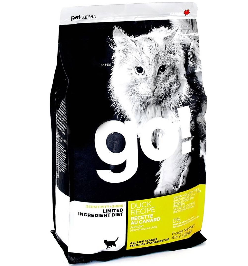 """Корм для кошек """"go"""": состав и особенности применения, класс продуктов"""