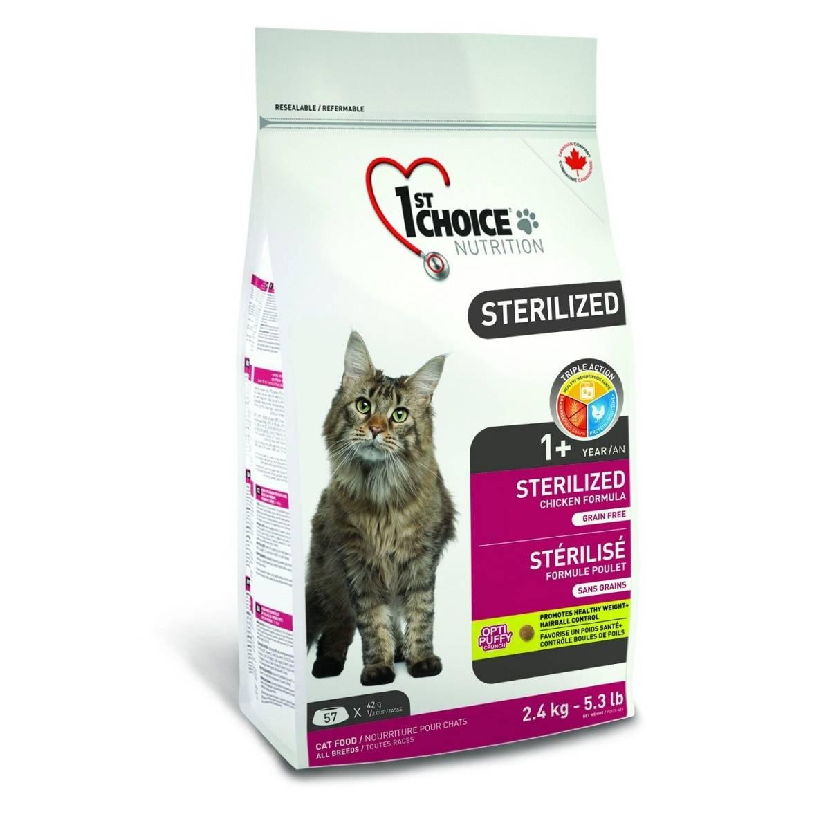 Корма супер-премиум-класса для стерилизованных кошек