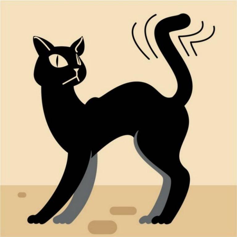 Почему кошки и коты виляют и машут хвостом?