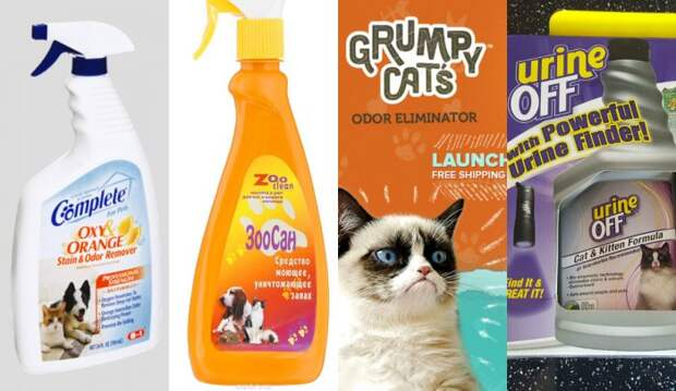 Средства от запаха кошачьей мочи