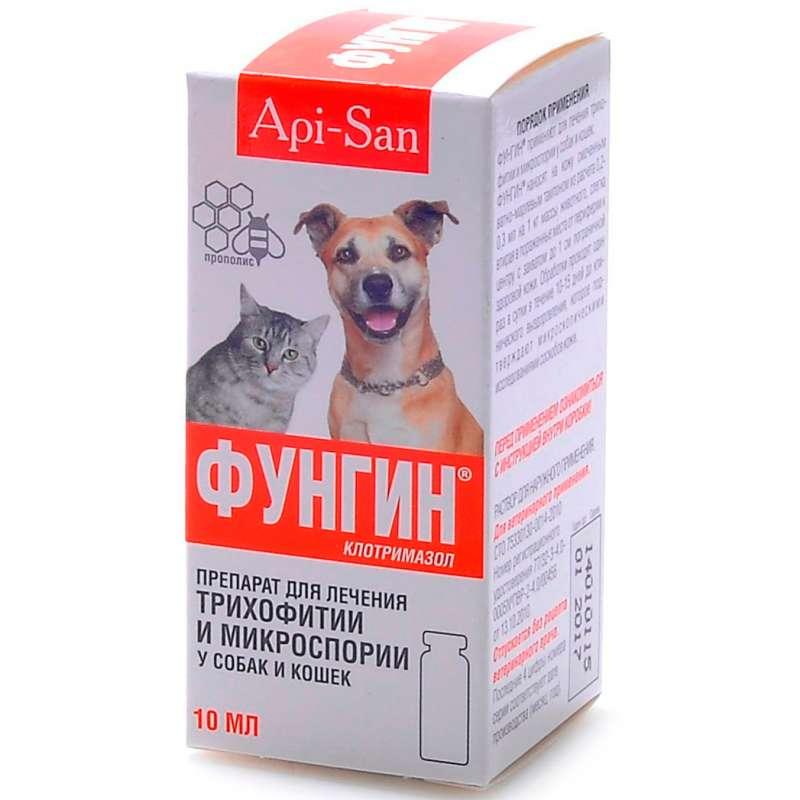 Лечение лишая кошек фунгином
