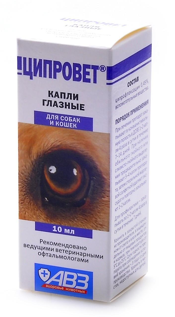 Глазные капли «ципровет»: инструкция по применению