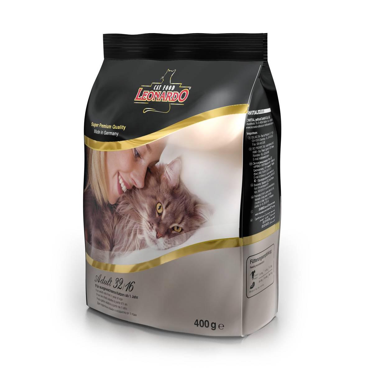 Корм для кошек леонардо: отзывы и обзор состава | сайт «мурло»