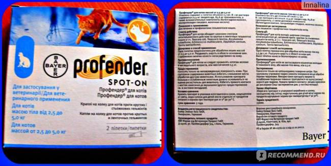Таблетки от глистов дирофен: применение для кошек, дозировка и состав