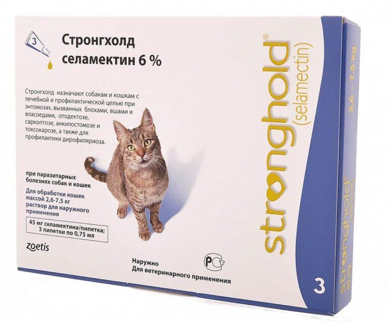 Обзор препарата стронгхолд для кошек: инструкция по применению, отзывы