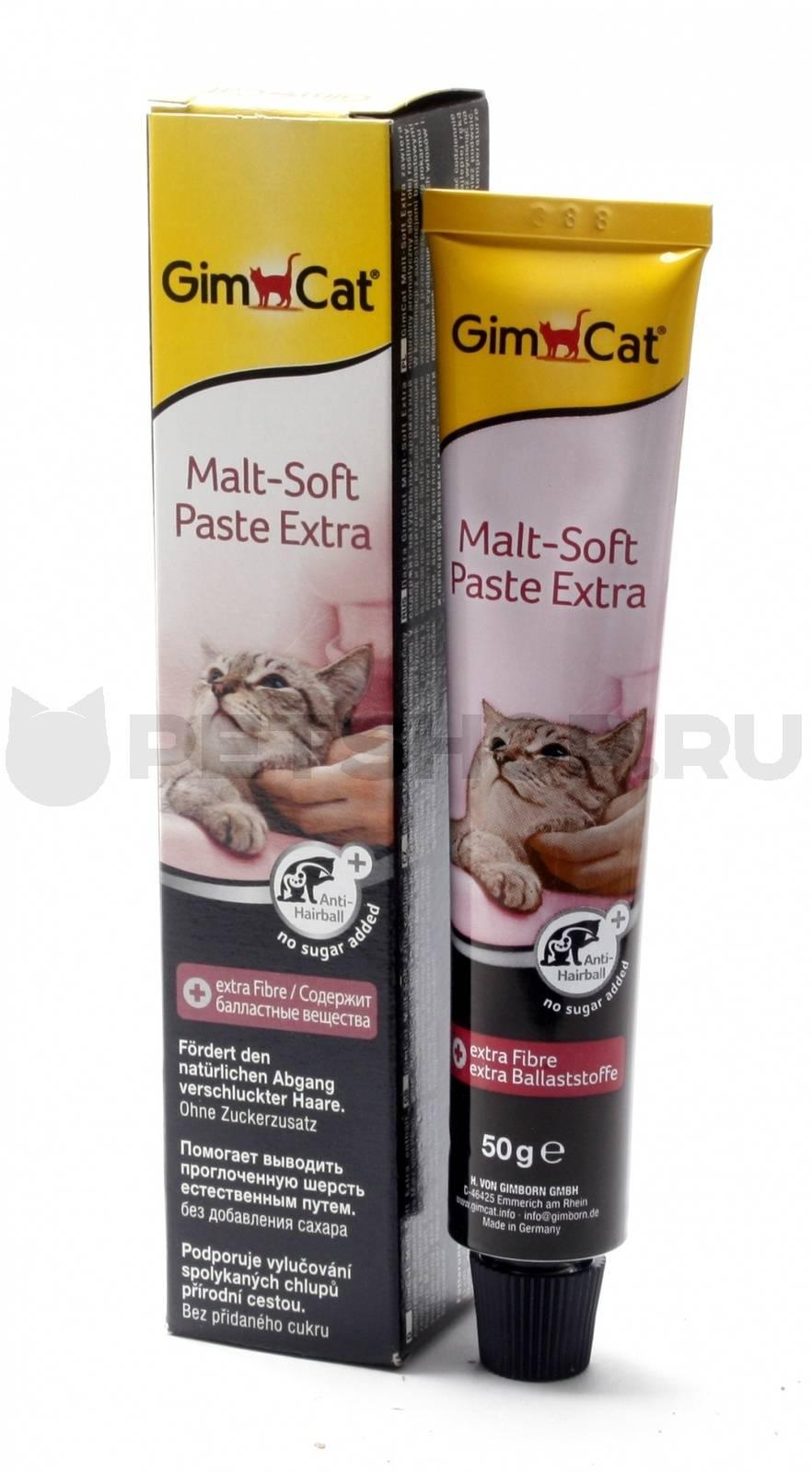 Паста для выведения шерсти из желудка у кошек: инструкция по применению