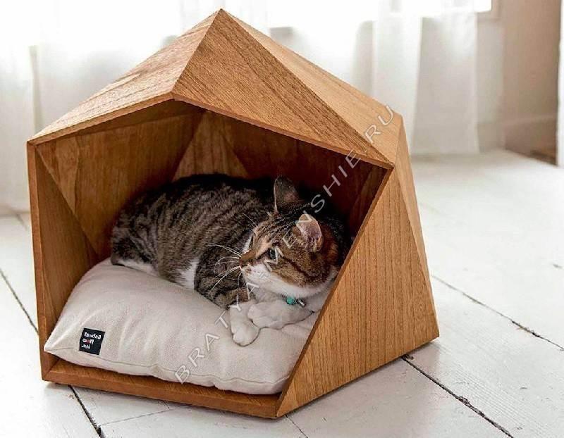 Домик для кошки своими руками: пошаговая инструкция, фото