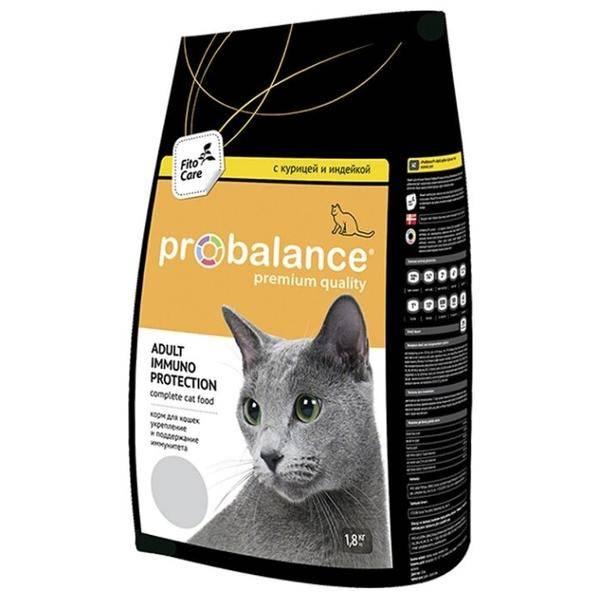 Корм для кошек probalance (пробаланс) - отзывы, состав и советы ветеринаров