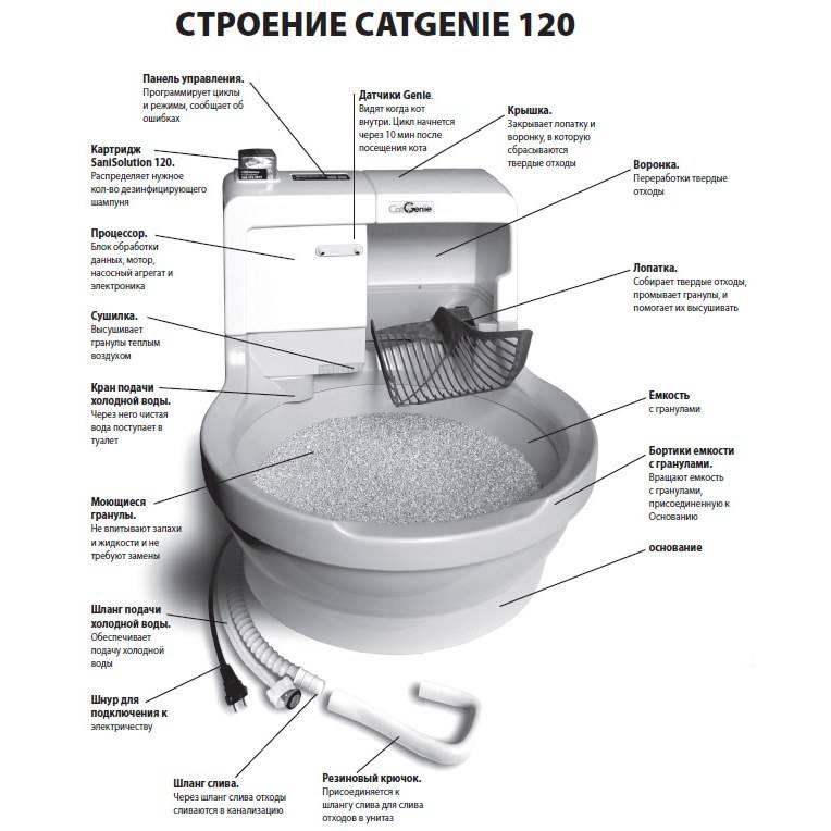 Самоубирающийся туалет для кошек: автоматический лоток - унитаз, видео