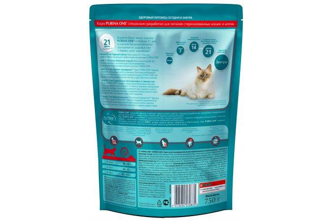 Выбор корма для кастрированных котов и стерилизованных кошек