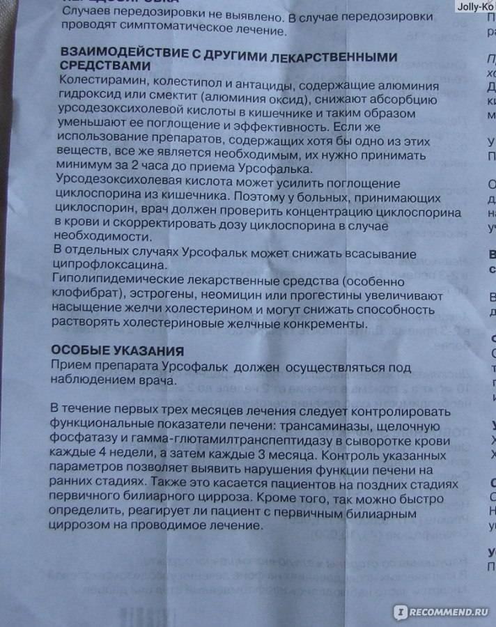 Урсофальк - инструкция по применению - 36n6.ru