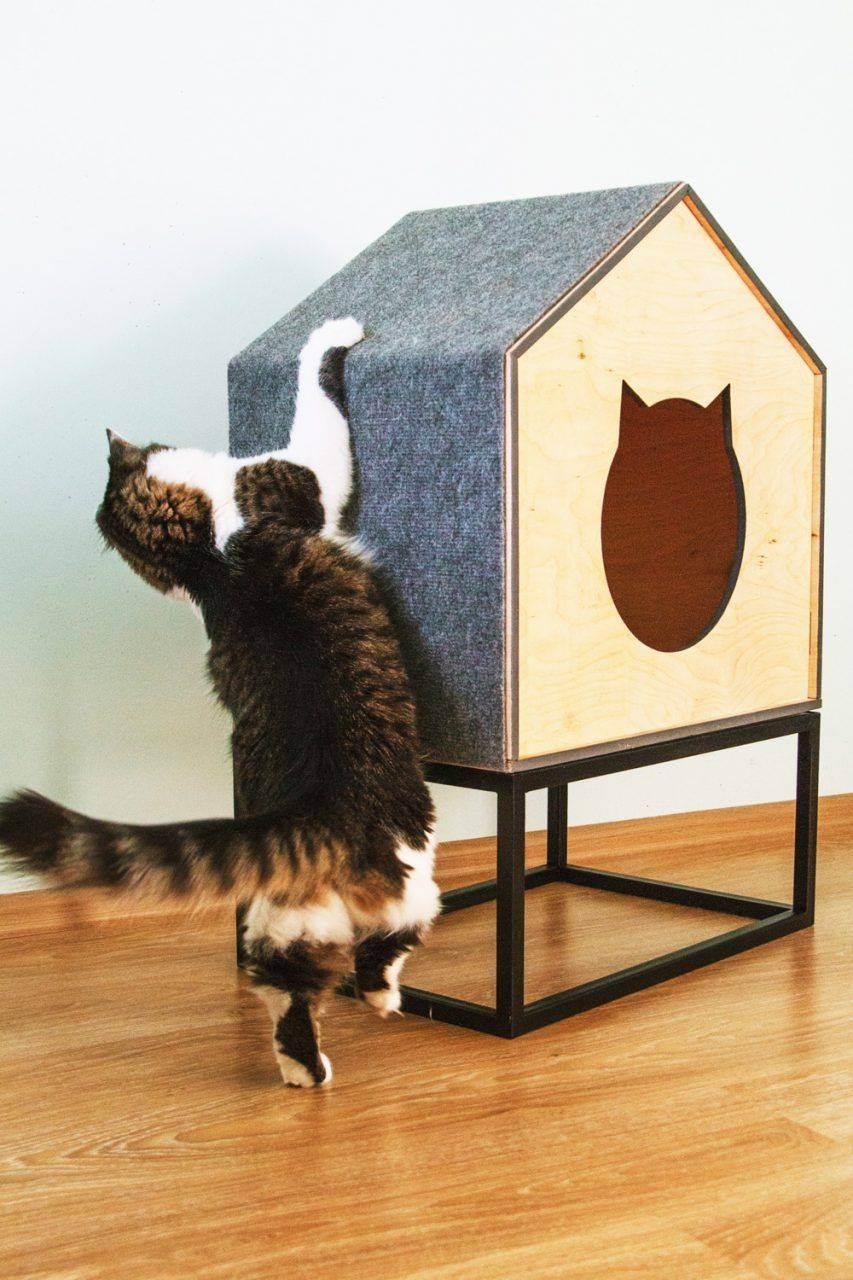 Как сделать домик для кошки своими руками из поролона, старой футболки или свитера за 15 минут?