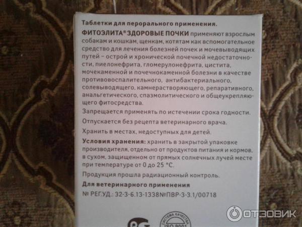 ᐉ фитоэлита здоровые почки для кошек: инструкция по применению, противопоказания - kcc-zoo.ru