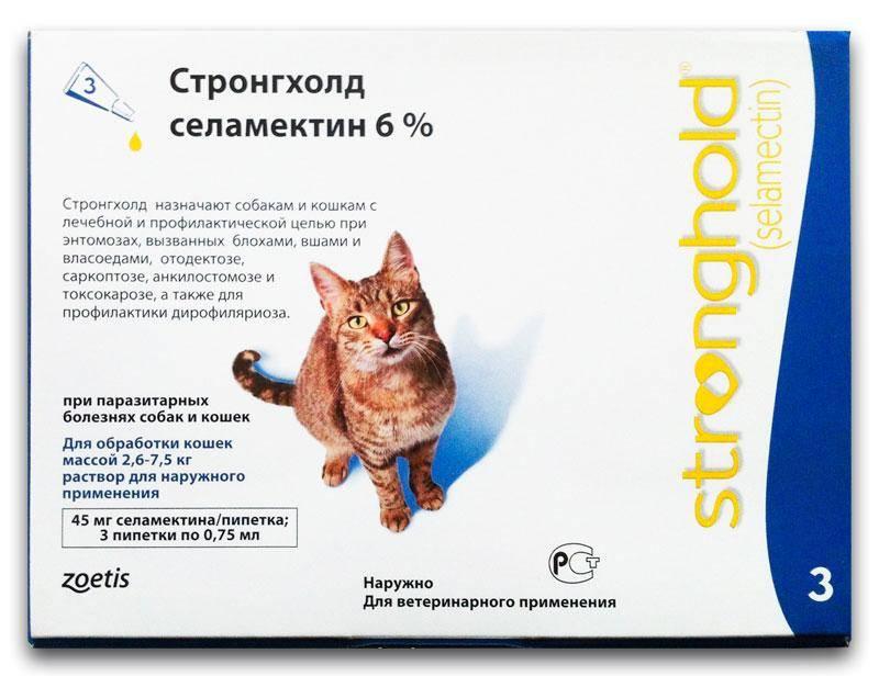 Стронгхолд от глистов для кошек: описание, инструкция, отзывы