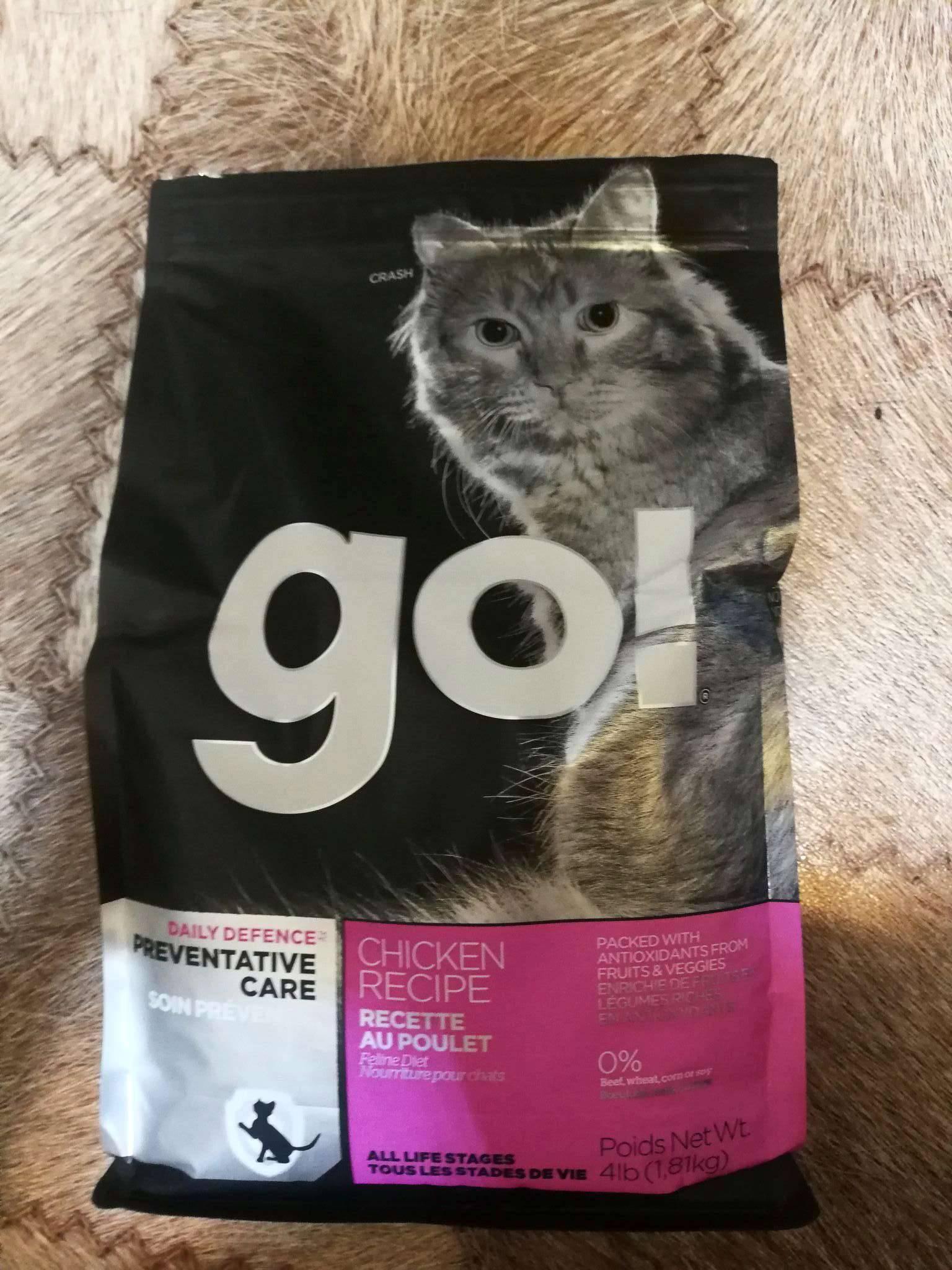 Обзор корма для кошек go (гоу): виды, состав, отзывы