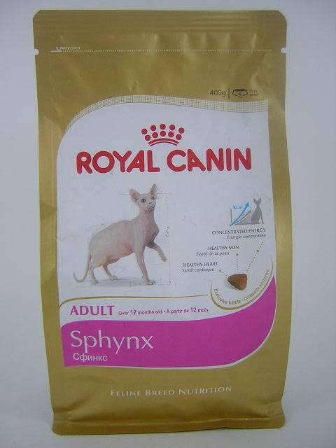 Советы по выбору корма для котов породы сфинкс