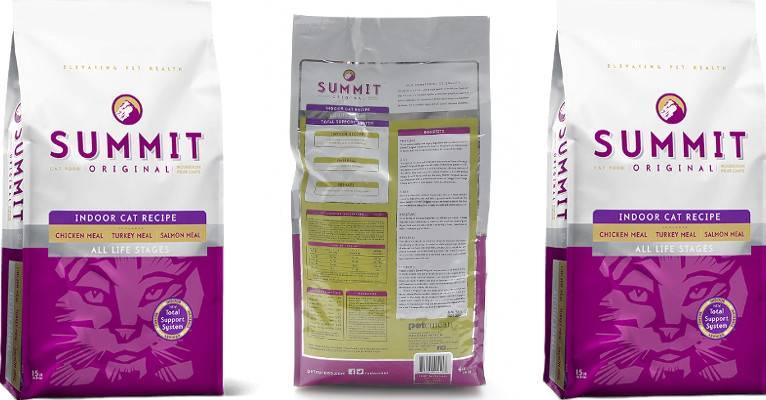 Описание корма Summit для кошек