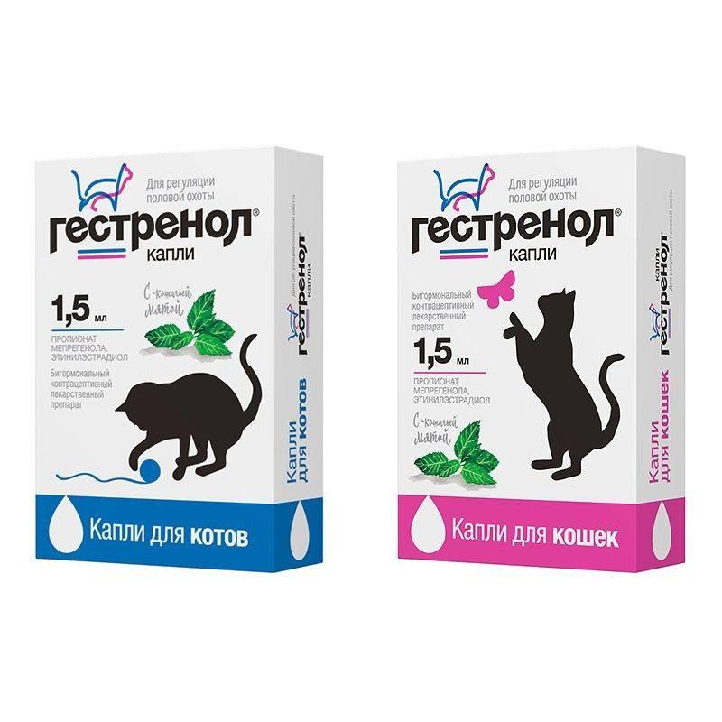 Гестренол контрацептив для кошек, капли 1,5 мл. купить в интернет-зоомагазине хвоост от 235 руб.