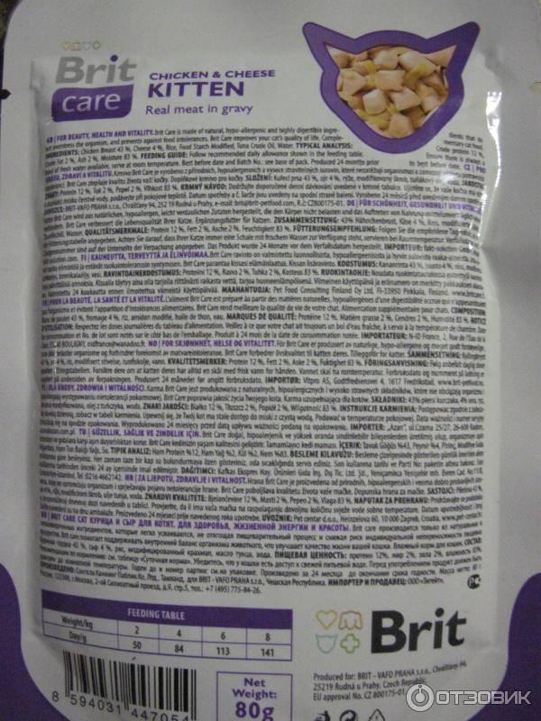Обзор корма для кошек брит (brit): виды, состав, отзывы