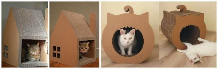 Как сделать своими руками домик для кошки за 15 минут: лучшие мастер-классы с инструкциями