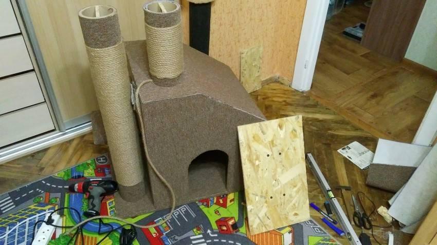 Как своими руками в домашних условиях сделать когтеточку для кота или кошки: 6 моделей царапок из подручных средств