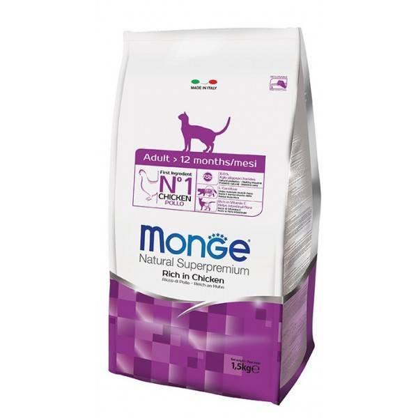 Корм для кошек monge: отзывы, разбор состава, цена - петобзор