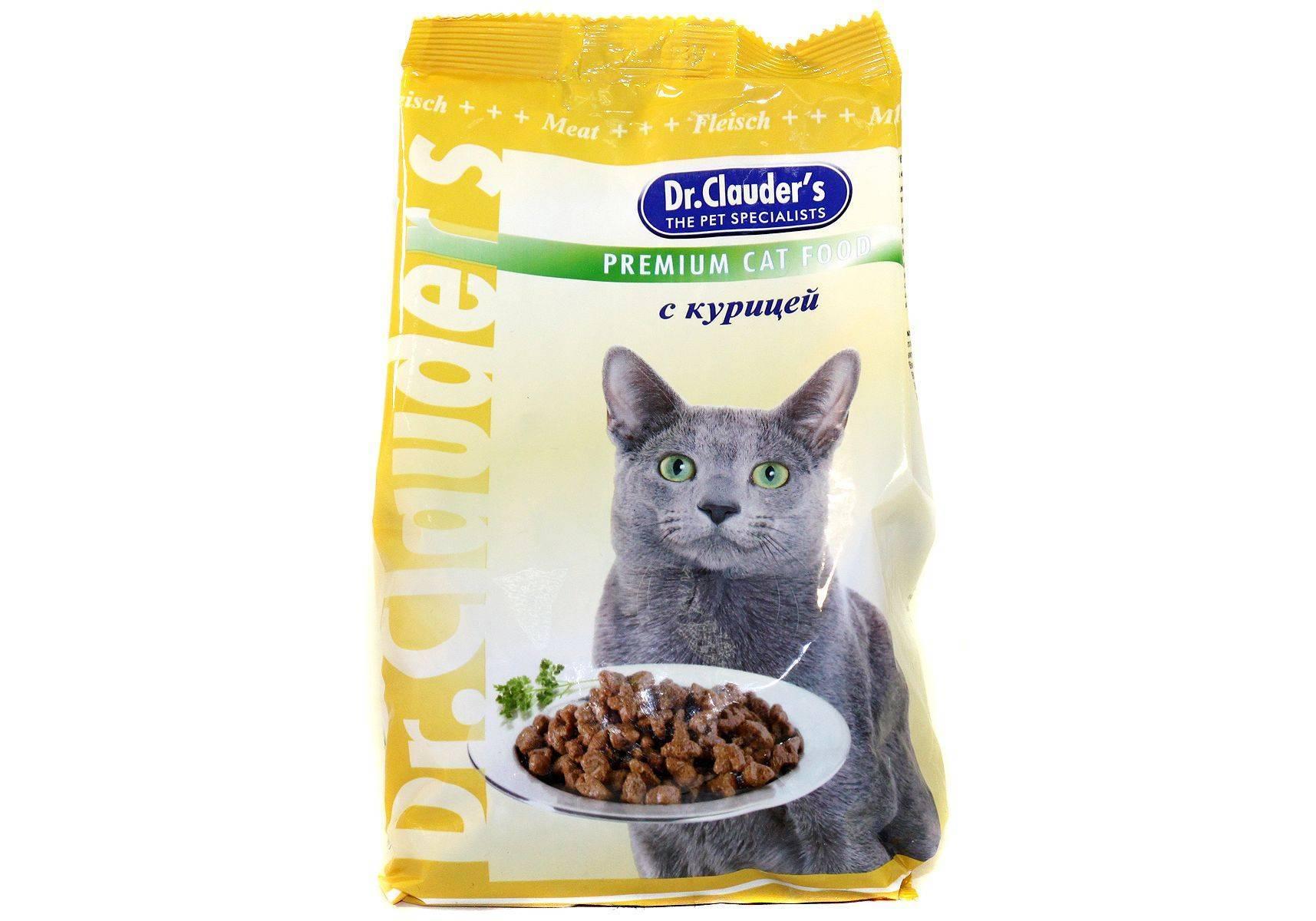 Корм доктор клаудер для кошек - состав