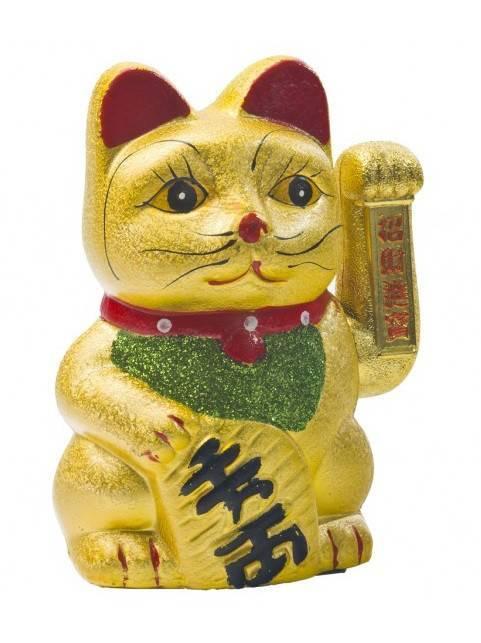 Что означает сувенир кошка машущая лапой. кошка машущая лапой. манеки неко в дословном переводе с японского обозначает «манящую кошку» и представляет собой фарфоровую или керамическую фигурку кота с п