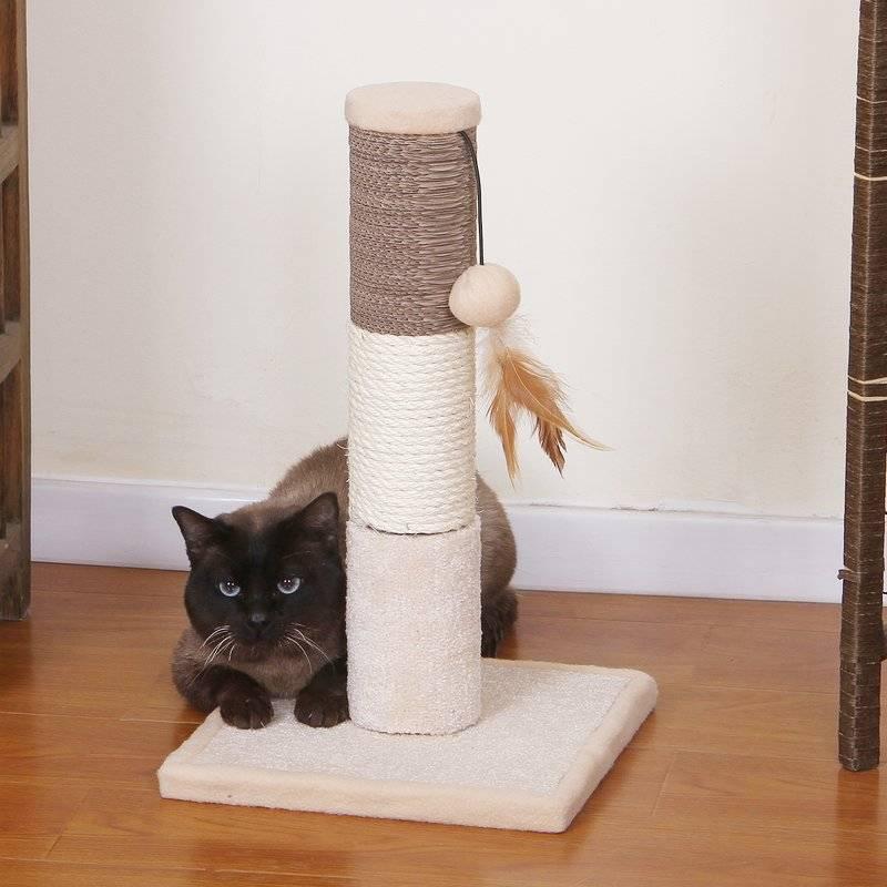 Когтеточки для кошек своими руками: поможем кошке и спасем мебель - kot-pes