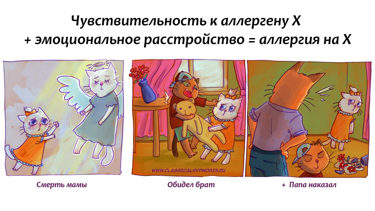 Психосоматика аллергии на кошек