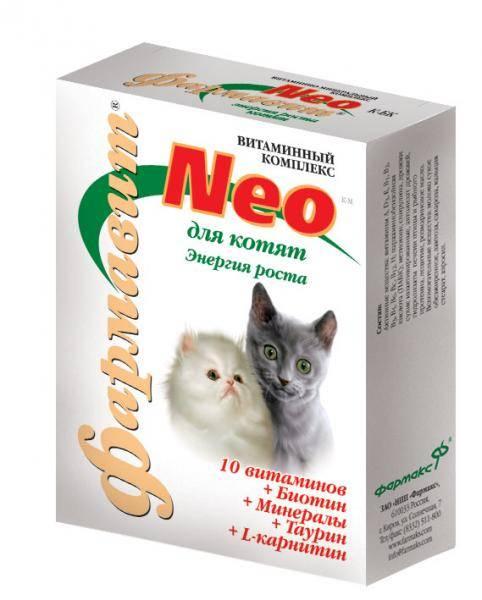 Использование витаминов и витаминных комплексов для кошек от выпадения шерсти