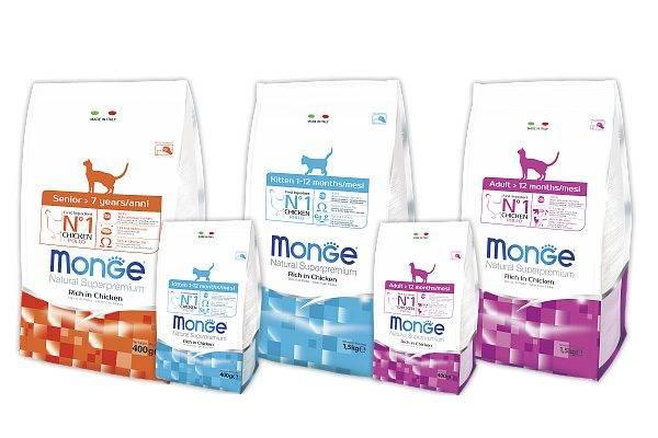 Monge корм для кошек: итальянский сухой и влажный для взрослых