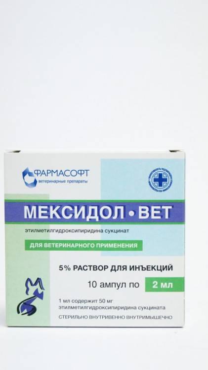 Мексидол-вет: инструкция по применению - вет-препараты