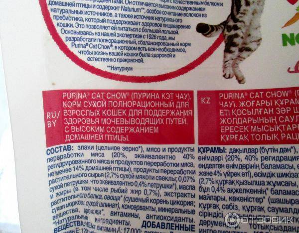 Корм грандин для кошек: цена, отзывы, состав